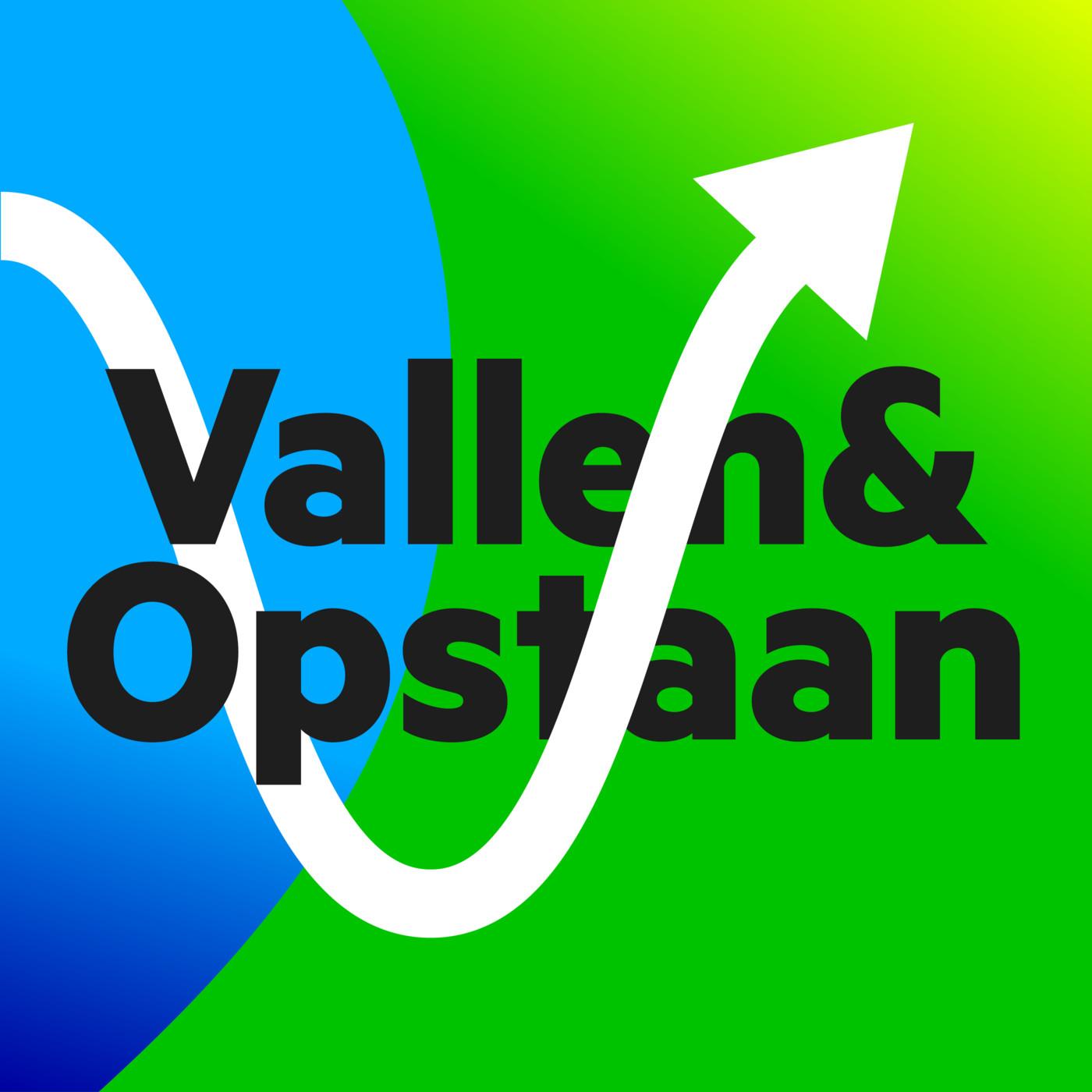 Vallen en opstaan logo