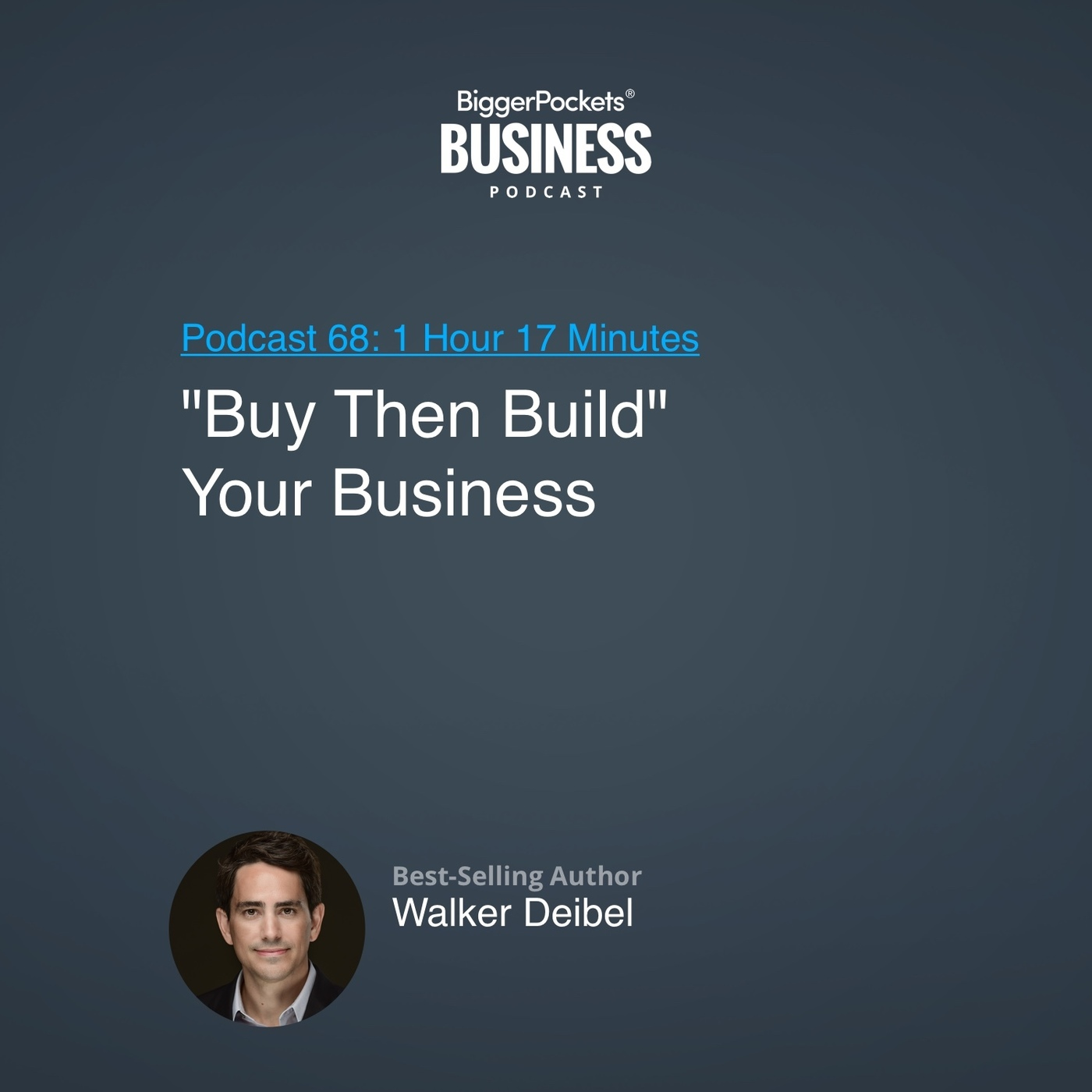 """68: """"Buy Then Build"""" Your Business With Best-Selling Author Walker Deibel"""