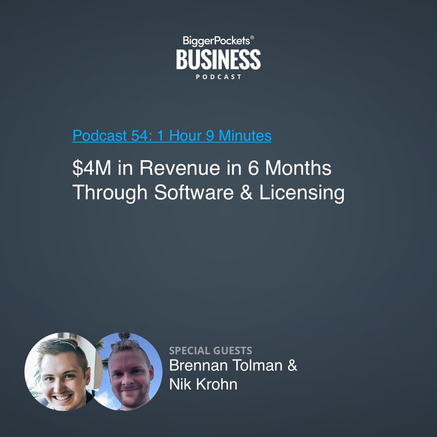 54: $4M in Revenue in 6 Months Through Software & Licensing with Brennan Tolman & Nik Krohn