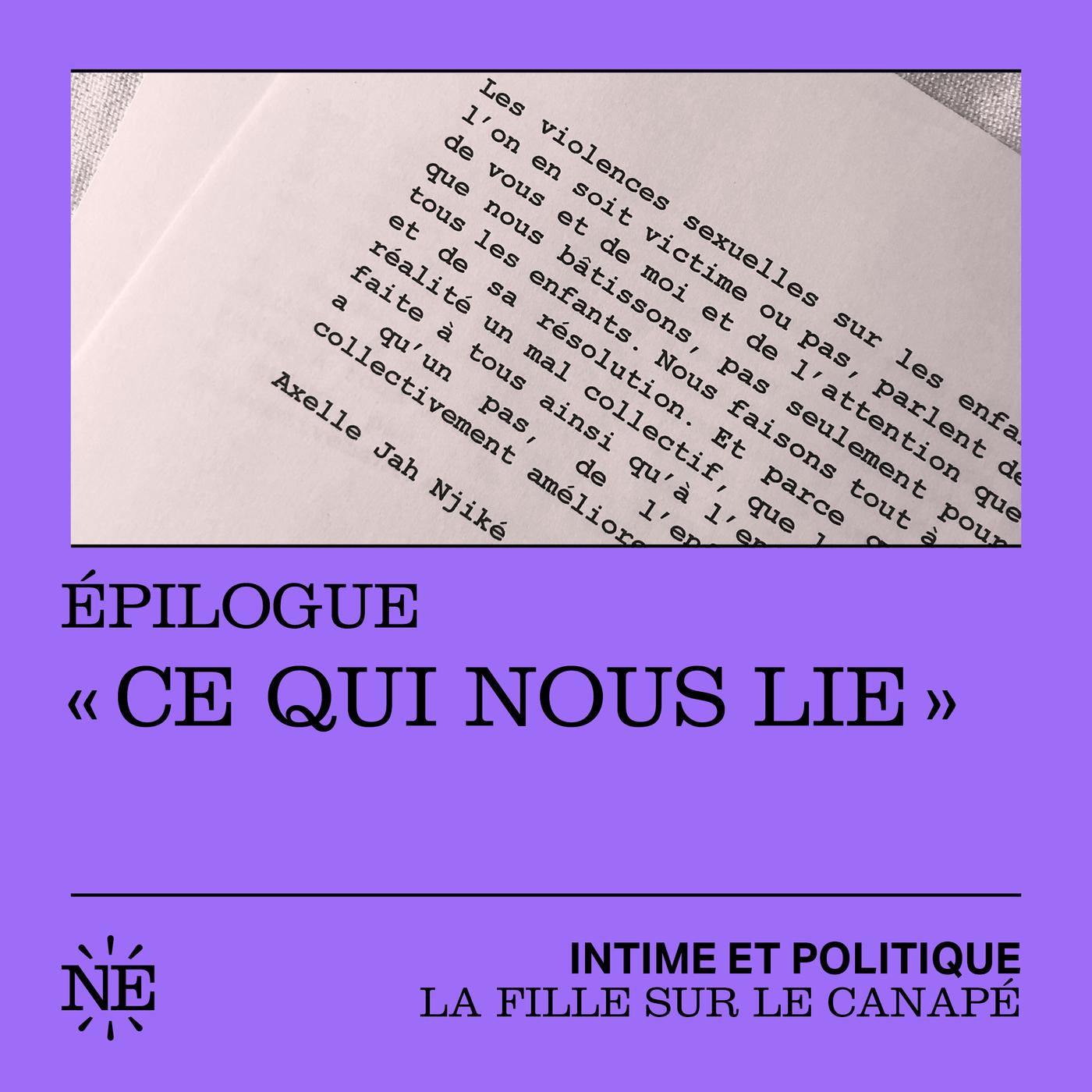 """La Fille sur le canapé : Epilogue - """"Ce qui nous lie"""""""