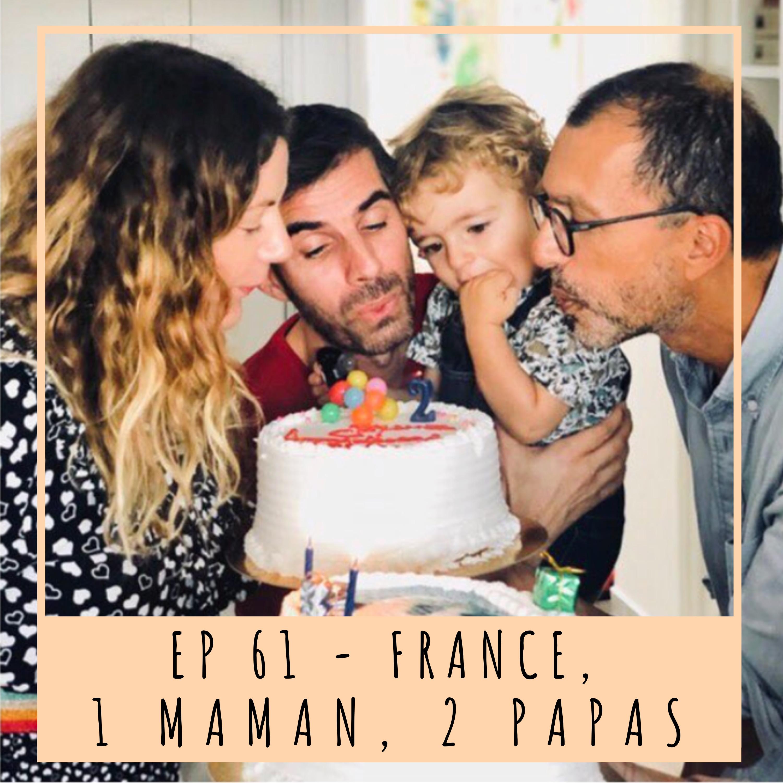 EP61- FRANCE, 1 MAMAN, 2 PAPAS