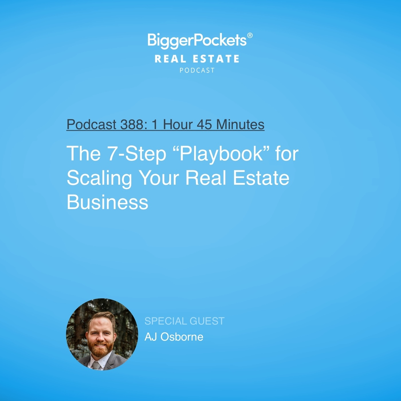 "388: The 7-Step ""Playbook"" for Scaling Your Real Estate Business With AJ Osborne"